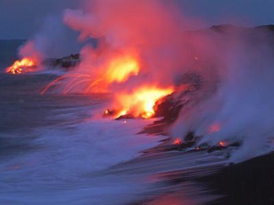 Lava from the Kilauea Volcano