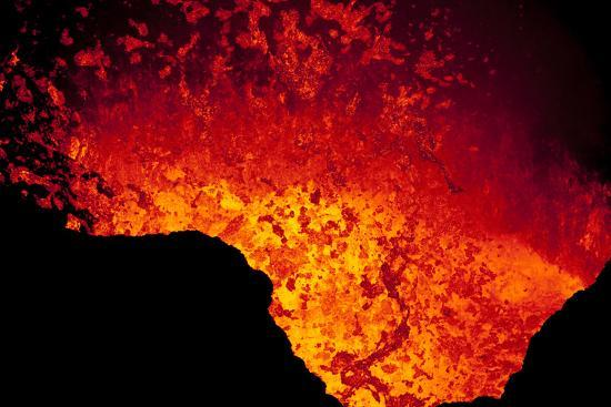 Lava Lake At Marum Crater-Ulla Lohmann-Photographic Print
