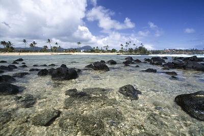 Lava Rocks of Poipu Beach Kauai Hawaii-George Oze-Photographic Print
