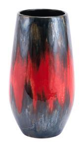 Lava Tall Vase Black & Red