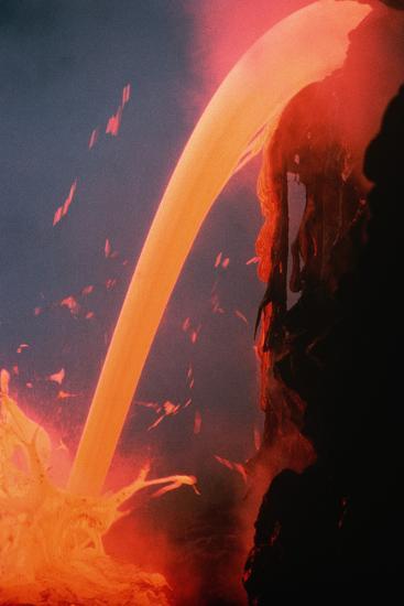 Lava Tube Pours into Ocean-J.D. Griggs-Photographic Print