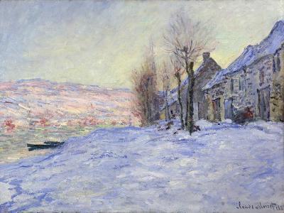 Lavacourt under Snow, 1881-Claude Monet-Giclee Print