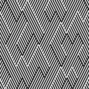 Pattern In Zigzag With Line Black And White by Lavanda