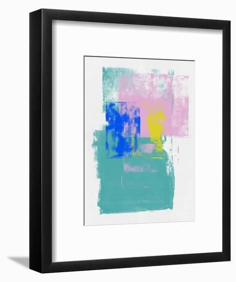 Lavender and Pine Abstract Study-Emma Moore-Framed Art Print