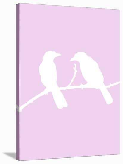Lavender Birds-Jetty Printables-Stretched Canvas Print