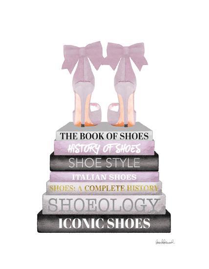 lavender bookstack shoe giclee print by amanda greenwood art com