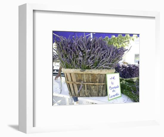 Lavender for Sale at 1 Euro a Bunch, at the Twice Weekly Famrer's Market in Coustellet-Barbara Van Zanten-Framed Photographic Print