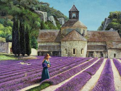 Lavender Picker, Abbaye Senanque, Provence-Trevor Neal-Giclee Print