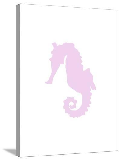 Lavender Seahorse-Jetty Printables-Stretched Canvas Print