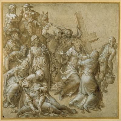 Christ Bearing His Cross Encounters St Veronica
