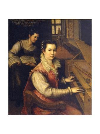 Self Portrait at the Spinet, 1578