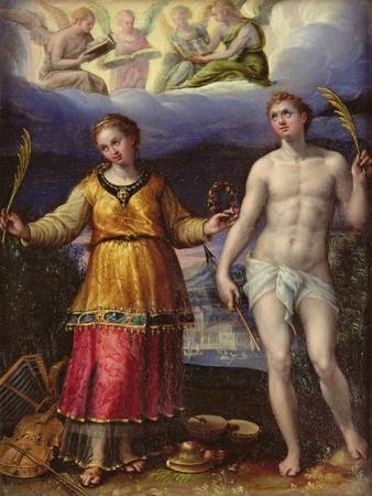St.Sebastian and St.Cecilia