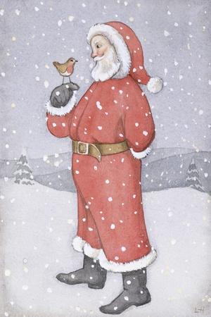 Father Christmas and a Robin