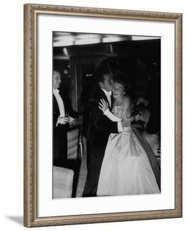 "Lavish Ship Ball Held Dock-Side Aboard Liner ""Homeric""--Framed Photographic Print"