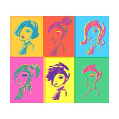 Young Fashion Woman Design, Pop Art