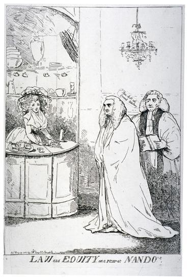 Law and Equity, or a Peep at Nando'S, 1787--Giclee Print