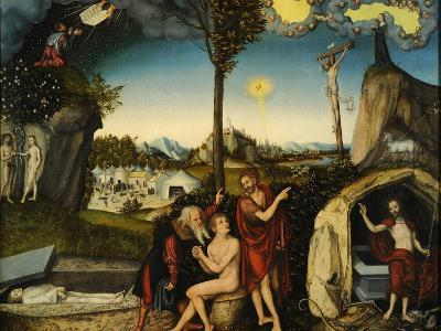 Law and Grace-Lucas Cranach the Elder-Giclee Print