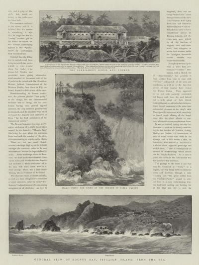 Law and Justice in Pitcairn Island, a Judicial Visit to the Home of the Mutineers of the Bounty--Giclee Print