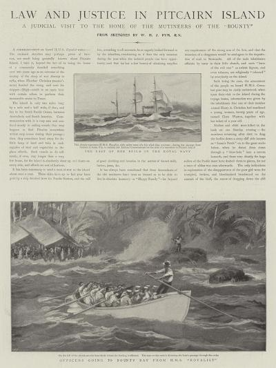 Law and Justice in Pitcairn Island--Giclee Print