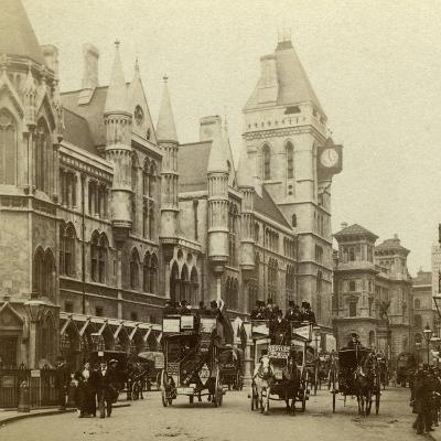 Law Courts, Strand, London, Late 19th Century--Photographic Print