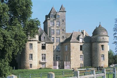 Lawn in Front of a Castle, Ayna, Midi-Pyrenees, France--Photographic Print