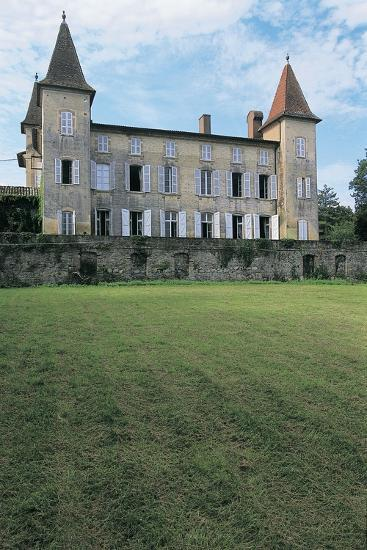 Lawn in Front of a Castle, Miramont Latour, Midi-Pyrenees, France--Photographic Print