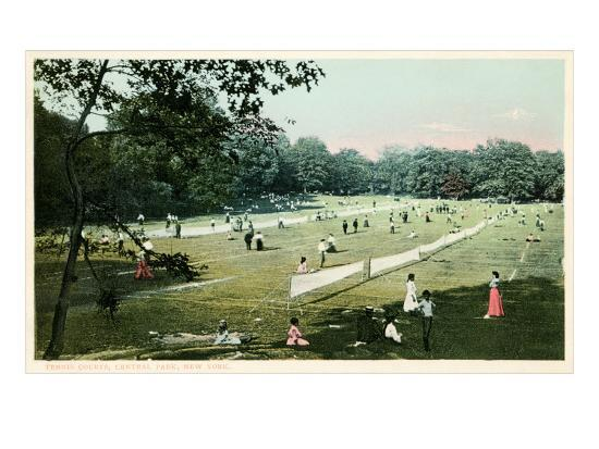Lawn Tennis in Central Park, New York City--Art Print