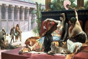 Cleopatra Testing Poisons on Those Condemned to Death, Late 19th Century by Lawrence Alma-Tadema