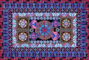 Turquoise Tapestry by Lawrence Chvotzkin
