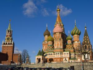 St. Basils Cathedral, Red Square, UNESCO World Heritage Site, Moscow, Russia, Europe by Lawrence Graham