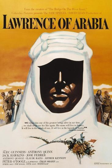 Lawrence of Arabia, 1962, Directed by David Lean--Giclee Print