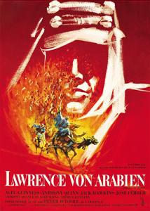 Lawrence of Arabia, (aka Lawrence Von Arabien), German Poster Art, 1962