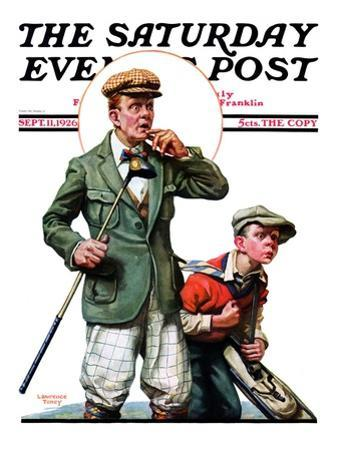 """""""Hole in One,"""" Saturday Evening Post Cover, September 11, 1926 by Lawrence Toney"""