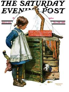 """""""No Girls Allowed,"""" Saturday Evening Post Cover, May 15, 1926 by Lawrence Toney"""