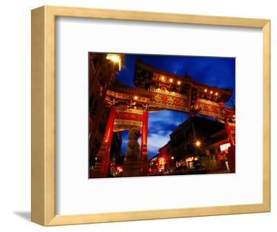 Chinatown Main Gate at Night, Victoria, Canada