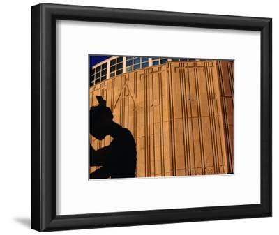 """Jonathon Borofsky's """"Hammering Man"""" Sculpture, Seattle, Washington, USA"""
