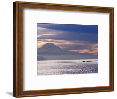 Mt. Rainier from a Ferry on the Seattle to Bainbridge Island Run, Seattle, Washington, USA