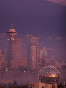 Vancouver Skyline at Dawn, Vancouver, Canada by Lawrence Worcester