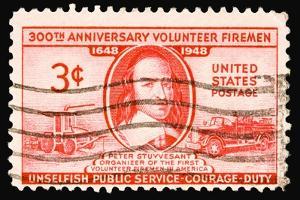 Volunteer Firemen 1948 by LawrenceLong