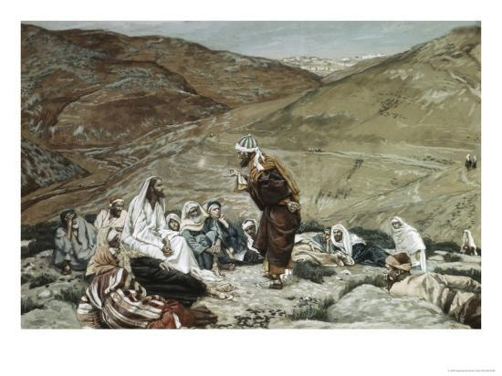 Lawyer Standing Up and Tempting Jesus-James Tissot-Giclee Print