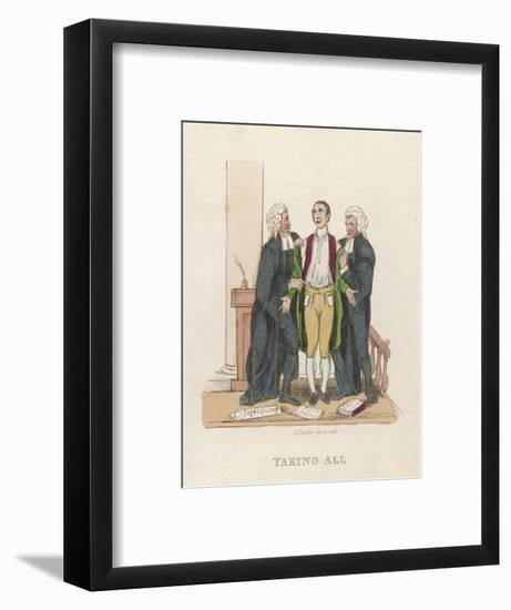 Lawyers and Client--Framed Giclee Print