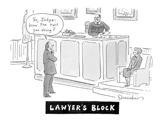 """Lawyers Block"" - Cartoon-Danny Shanahan-Premium Giclee Print"