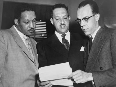 Lawyers Confer at the Supreme Court Prior to Presenting Arguments Against School Segregation--Photo