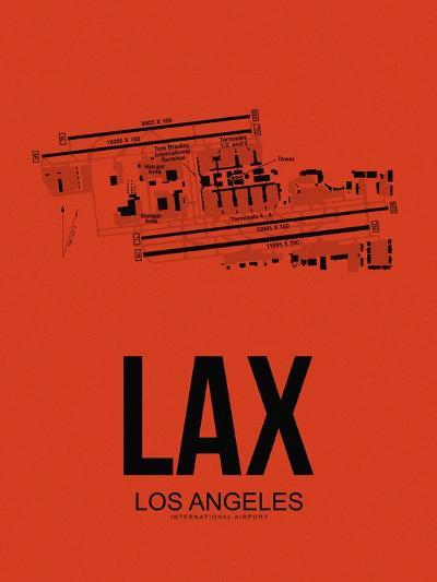 LAX Los Angeles Airport Orange-NaxArt-Art Print