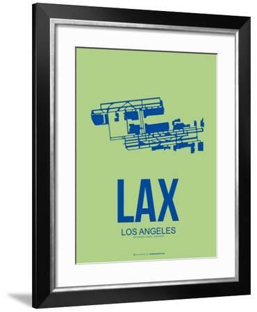 Lax Los Angeles Poster 1-NaxArt-Framed Art Print