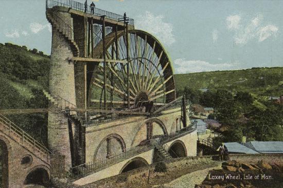 Laxey Wheel, Isle of Man--Photographic Print