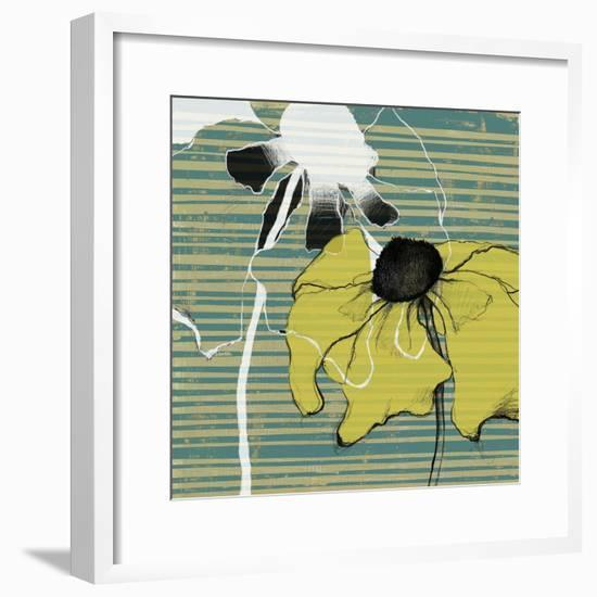 Layered Poppies II-Jennifer Goldberger-Framed Art Print