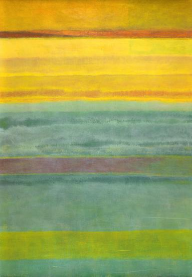 Layered Yellow and Green Abstract-Marie C^ Wattin-Art Print