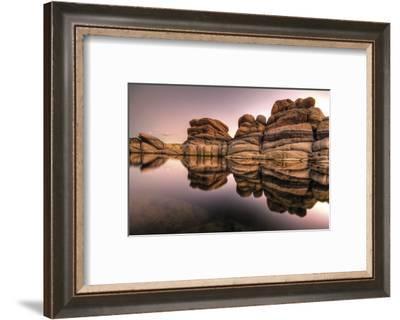 Layered-Bob Larson-Framed Art Print