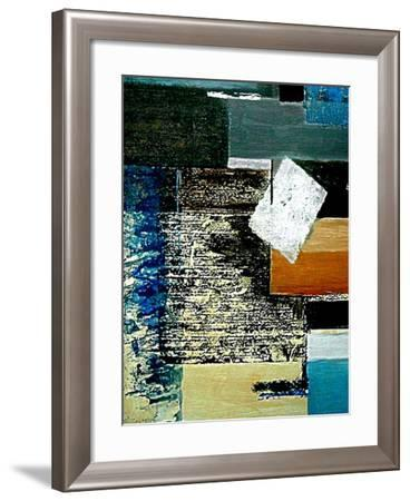 Layers and Squares II-Ruth Palmer 2-Framed Art Print